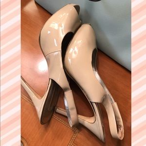 NINE WEST patent leather platform heels Sz 11